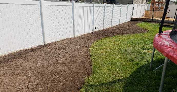 Results of a lawn using Tuxedo's Yard and Garden Cleanup Services